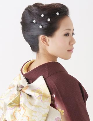 最新のヘアスタイル 浴衣に合う髪型 簡単 ロング : 夜会巻きのアレンジ|夢館 ...